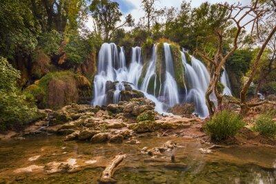 Canvas print Kravice waterfall in Bosnia and Herzegovina