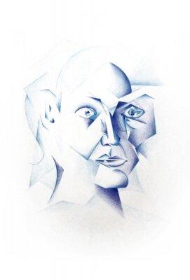Canvas print Kubistisches Gesicht