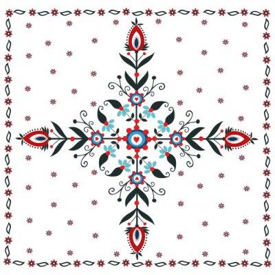 Canvas print Kwiatowy wzór ludowy