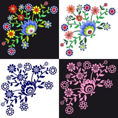 Canvas print kwieciste wzory ludowe