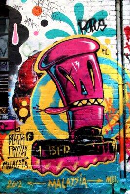 Canvas print L.A street, Melbourne