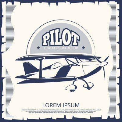 Canvas print Label design - vintage poster airplane