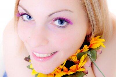 lächelndes Blumenportrait 2