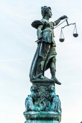 Canvas print lady justice in Frankfurt