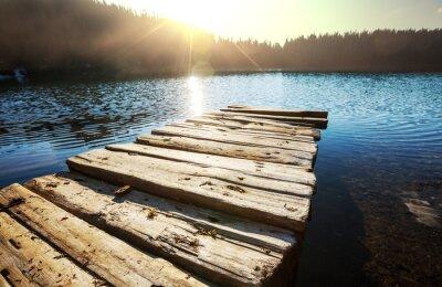 Canvas print lake