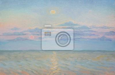 landscape, oil painting, canvas, painting a picture