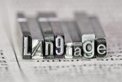 Canvas print Language