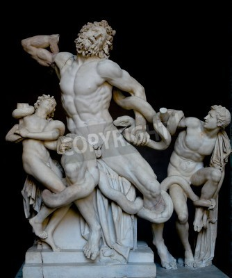 Canvas print Laocoon and his sons, famous classical greek statue