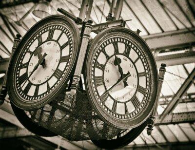 Canvas print Large clock