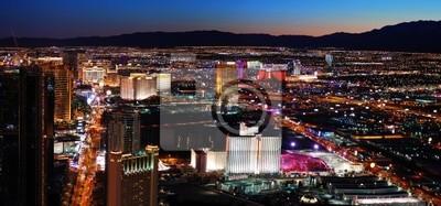 Las Vegas skyline at night panorama