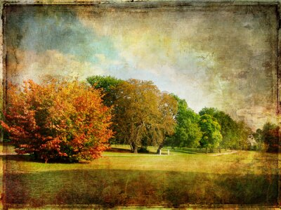 late autumn - vintage picture