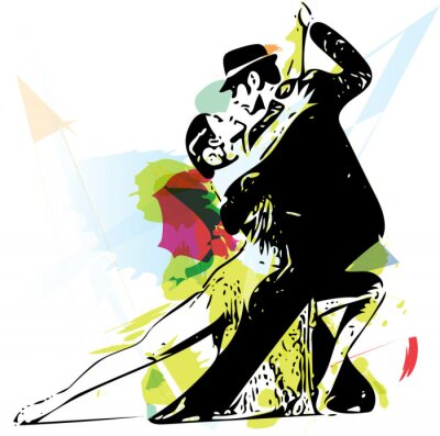 Canvas print Latino Dancing couple