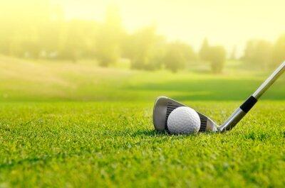 Canvas print Let's golf