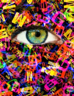 Canvas print Letter Eye