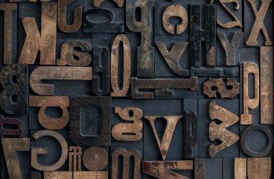 Canvas print Letterpress alphabet