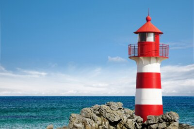 Canvas print Leuchtturm am Ozean