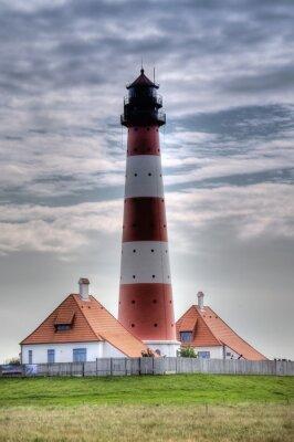 Canvas print Leuchtturm Westerheversand in Westerhever