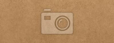 Canvas print Light brown kraft paper texture banner background