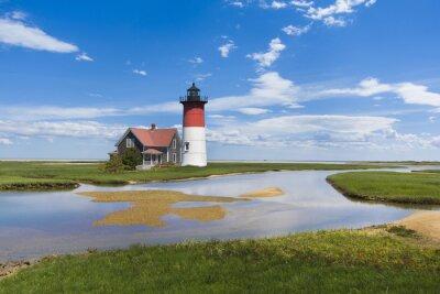 Canvas print Light house on Cape Cod, MA. USA