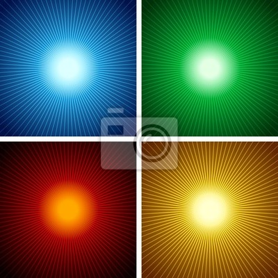 Light Rays Set - Abstract Background