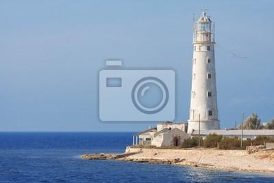 Lighthouse and sea.