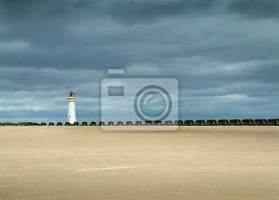 lighthouse and sea defence