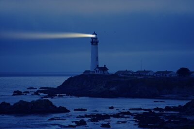 Canvas print Lighthouse in California