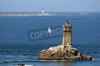 Lighthouse in sea, France