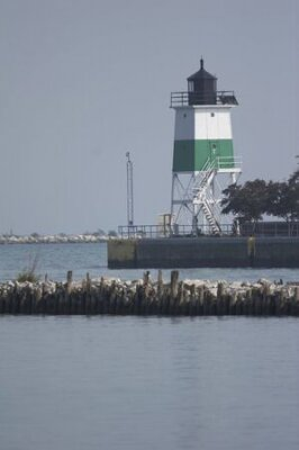 lighthouse on sea, Chicago, Illinois, USA