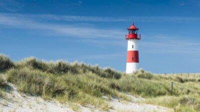 Canvas print Lightouse on dune horizontal