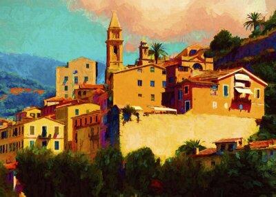 Canvas print Liguria landscape
