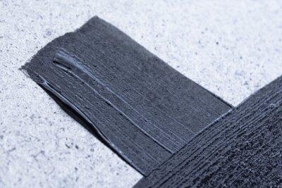 Line black acrylic or oil paint