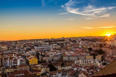 Canvas print Lisbon at nigth