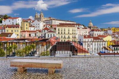 Canvas print Lisbon cityscape - traditional architecture, Alfama district, Lisbon, Portugal.