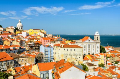 Canvas print Lisbon downtown, Portugal