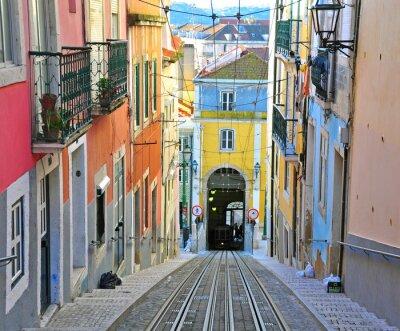 Canvas print Lisbon funicular Bica