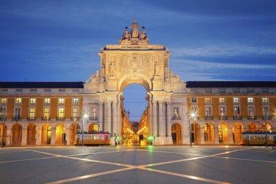Canvas print Lisbon. Image of Arch of Triumph in Lisbon, Portugal.