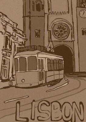 Canvas print Lisbon vintage