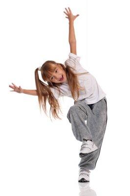Canvas print Little girl dancing