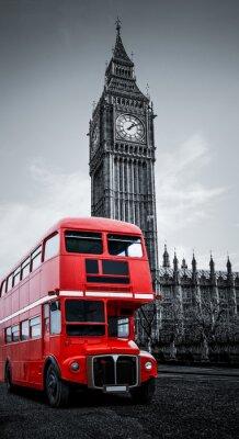 Canvas print London bus und Big Ben