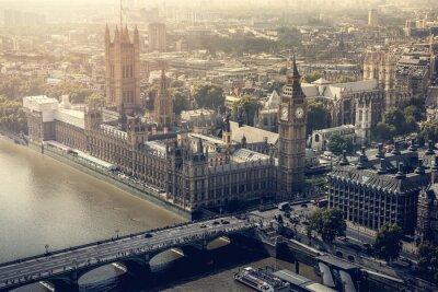 Canvas print London city aerial view