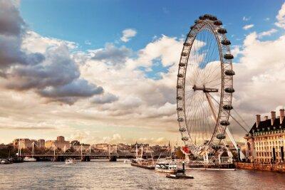 Canvas print London, England the UK skyline. The River Thames