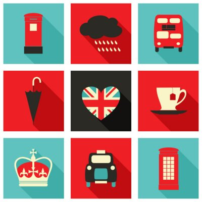 Canvas print London Icons Collection
