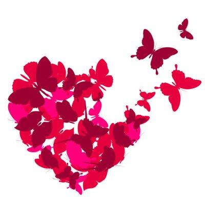 Canvas print love hearts,