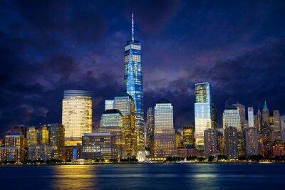 Canvas print Lower Manhattan skyline at twilight, New York