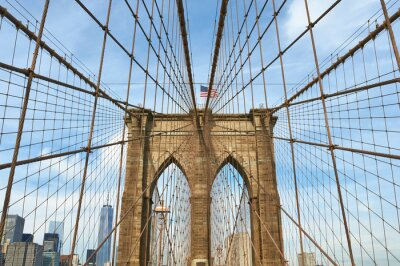 Canvas print Lower Manhattan skyline view from Brooklyn