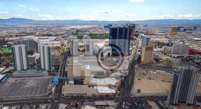 Luxury hotels in Las Vegas Strip panorama