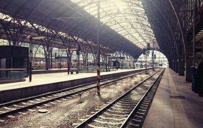 Canvas print Main railway station in the Prague, Czech Republic.
