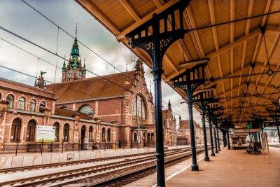 Canvas print Main station of Gdansk