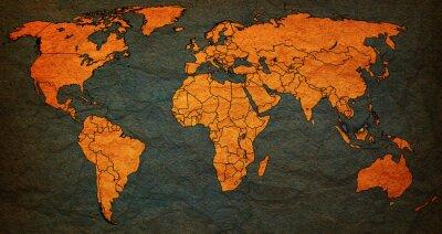 Canvas print malaysia territory on world map